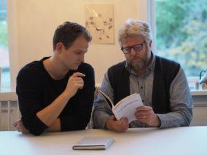 Henrik Børsting Jacobsen og Hans Petter Jacobsen i samtale om «Gjengangerne» - Stress, smerte og søvn. @ Kjelleren